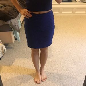 Royal blue high waisted skirt from Express